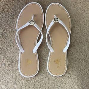 White Aloha Island Sandals